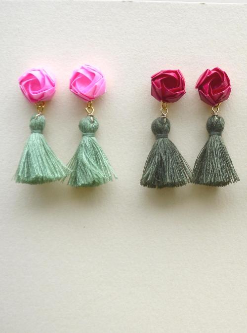 Flowerista - Fiorigami -orecchini nappine