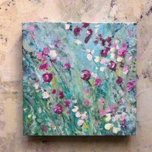 Flowerista - Rosa e Turchese - quadro Boccioliinfiore