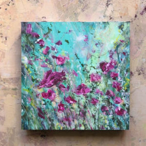 Flowerista - Rosa e Turchese - quadro Petali di poesia