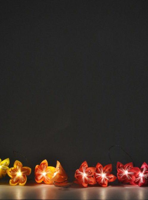 Flowerista Fiorigami ghirlanda accesa