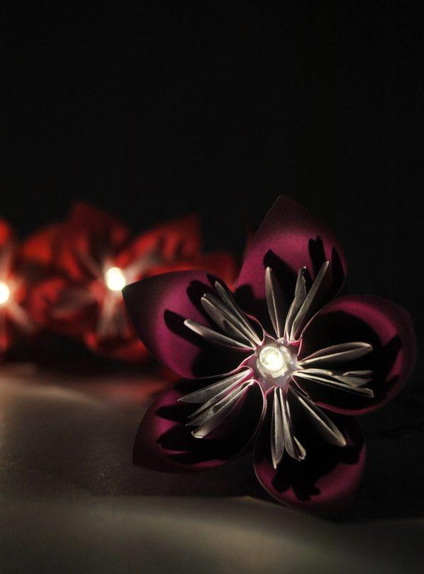 Flowerista - Fiorigami - ghirlanda di fiori accesa