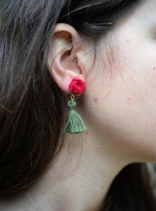 Flowerista - Fiorigami-modellonappina_indossato