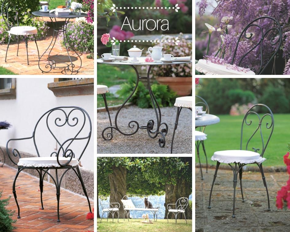 Flowerista - Aurora Unopiù - sedie e tavolino outdoor in ferro