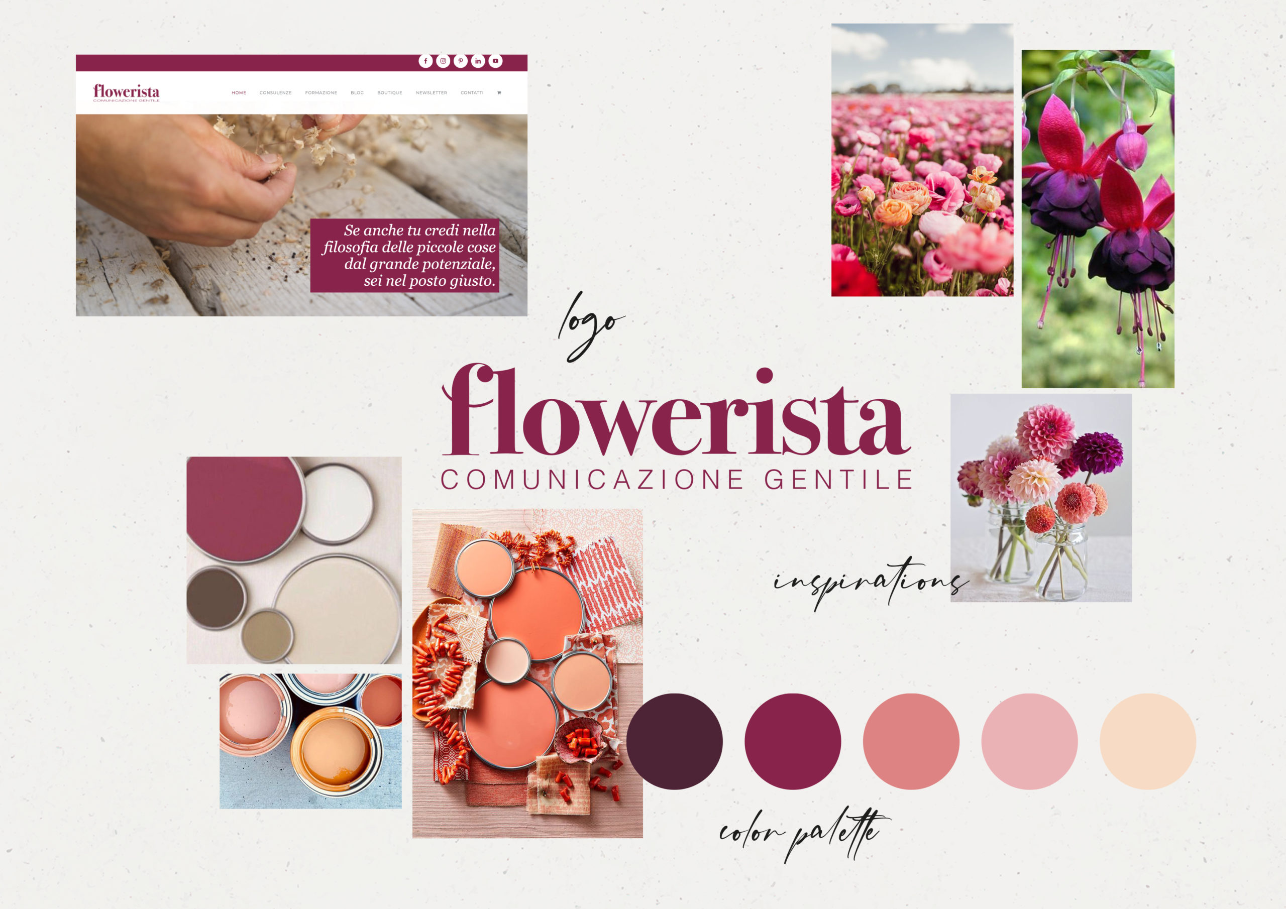Moodboard Flowerista Thecreativedesign Lab