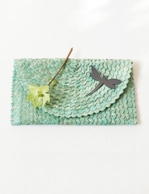 clutchbag turquois BiCA Good Morning Design Flowerista
