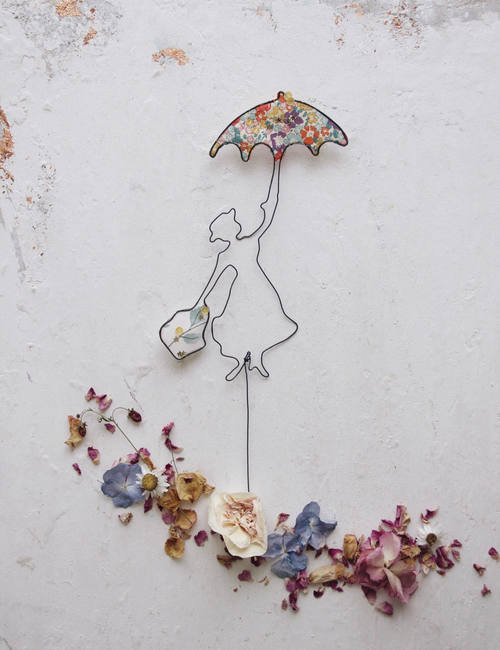 Cake topper Mary Poppins - fili di poesia- flowerista