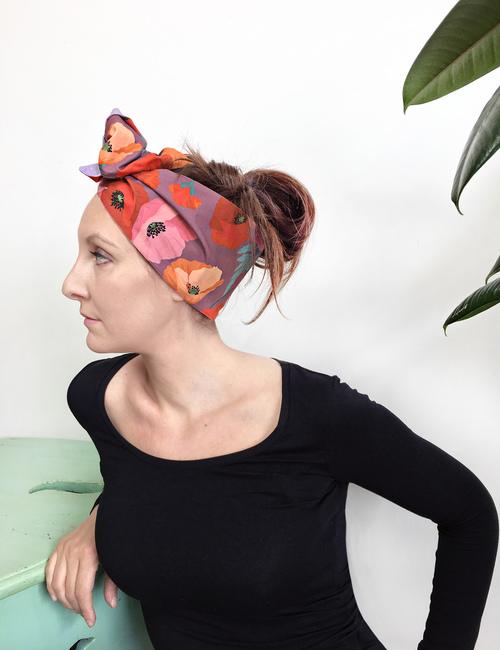 Papaveri fascia turbante-Miurcilla-Flowerista