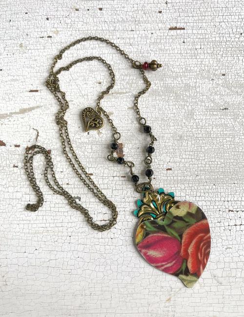 Collana con cuore vintage-fioridlatta-flowerista