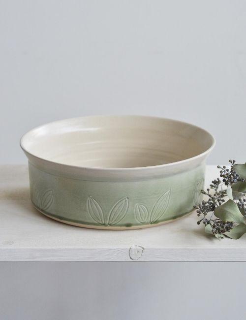 leaf plate-ciotola gres-ceceramic-flowerista