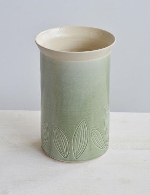 leaf vase-vaso gres-ceceramic-flowerista