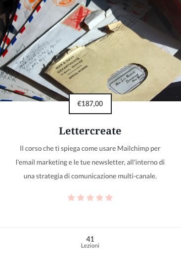 Lettercreate corso online di email marketing Flowerista