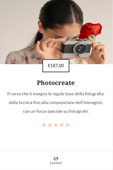 Photocreate corso online di fotografia Flowerista