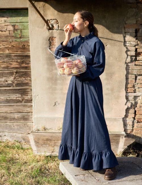 Camicia in denim Ortica e gonna in Jeans Melissa_soficlothes_boutiqueflowerista