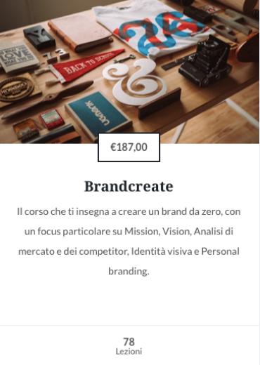 Corso online Brandcreate