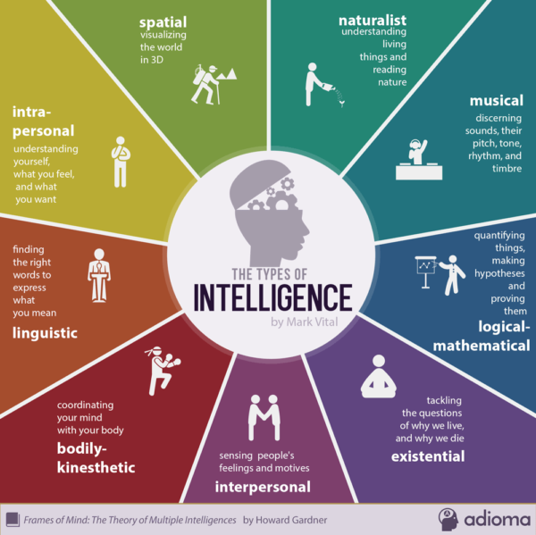 tipi intelligenza infografica
