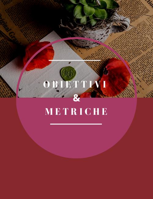 Obiettivi e metriche webinar